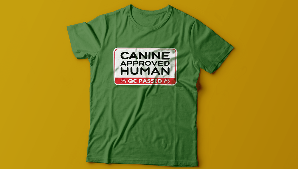 canine approved human cool dog lover t-shirt