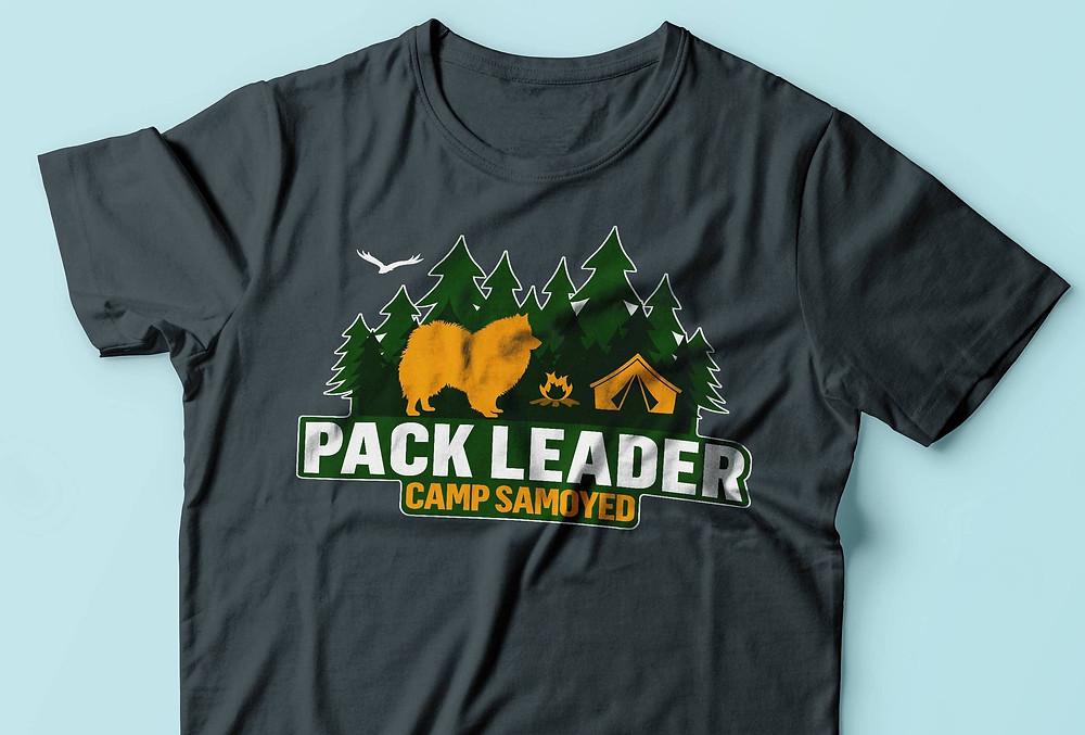 pack leader camping campers samoyed dog lover t-shirt