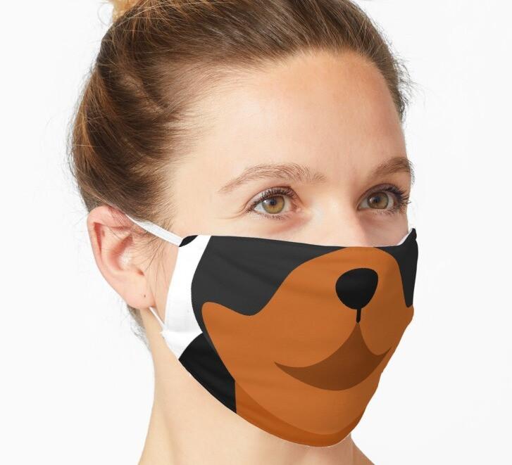 funny Rottweiler dog face mask