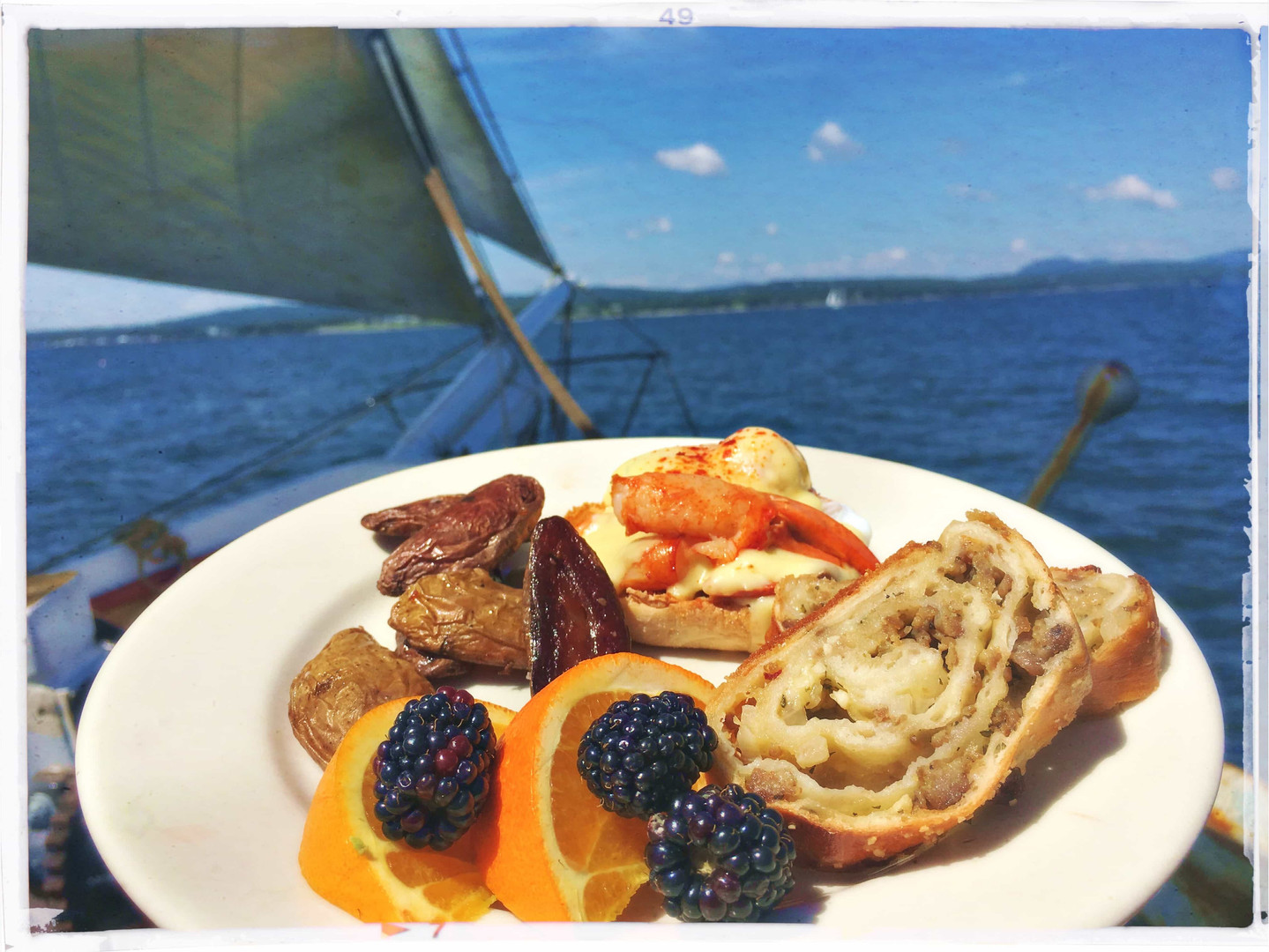 delicious food on Maine schooner sail ri