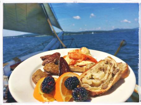 delicious food on Maine schooner sail ri