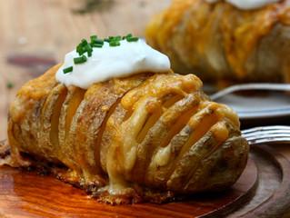 Hasselback Batatas - Sem Bacon