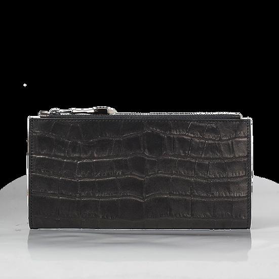 L束ウォレット PRLW-304 BLACK-CROCOSTAMP【クロコ型押しレザー】