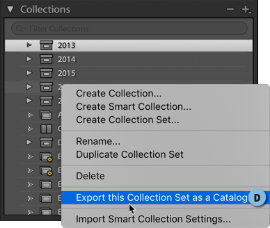 Export this Collection set as a Catalog.