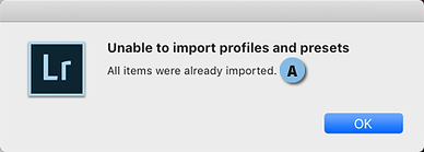 Unable to import profiles an Presets.png