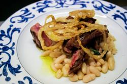 Vitello cipolla e fagioli