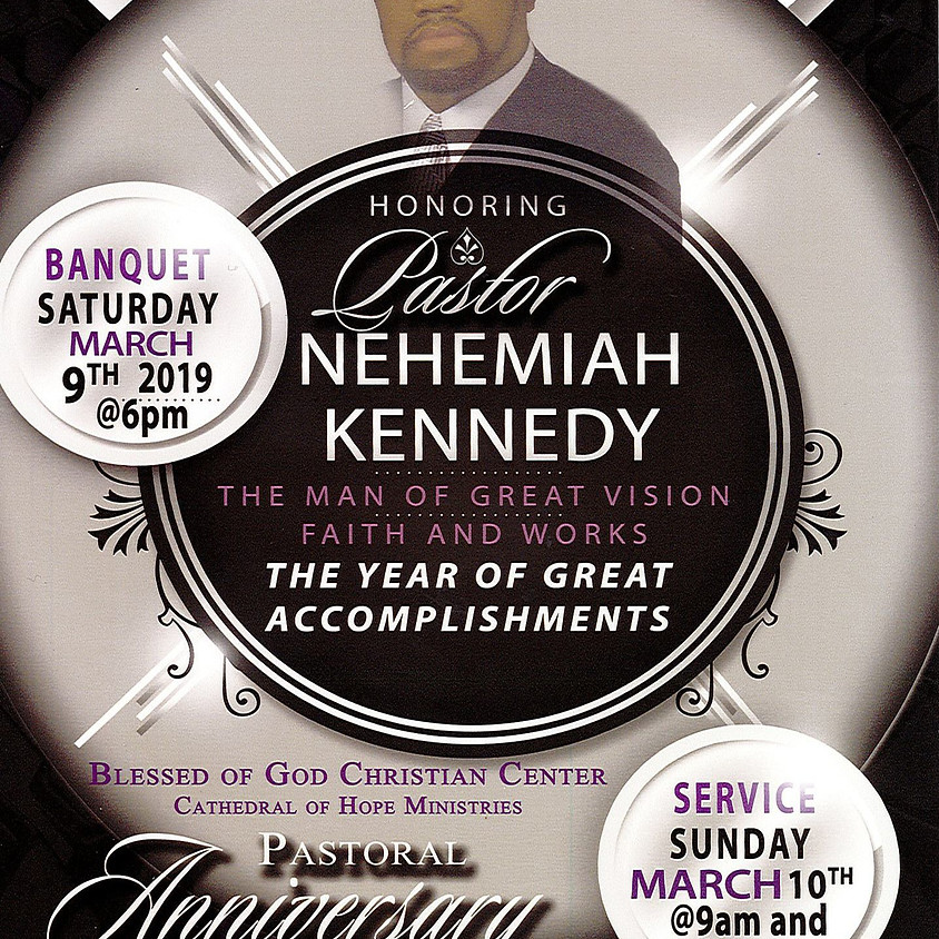Pastoral Anniversary Banquet for Pastor Nehemiah Kennedy