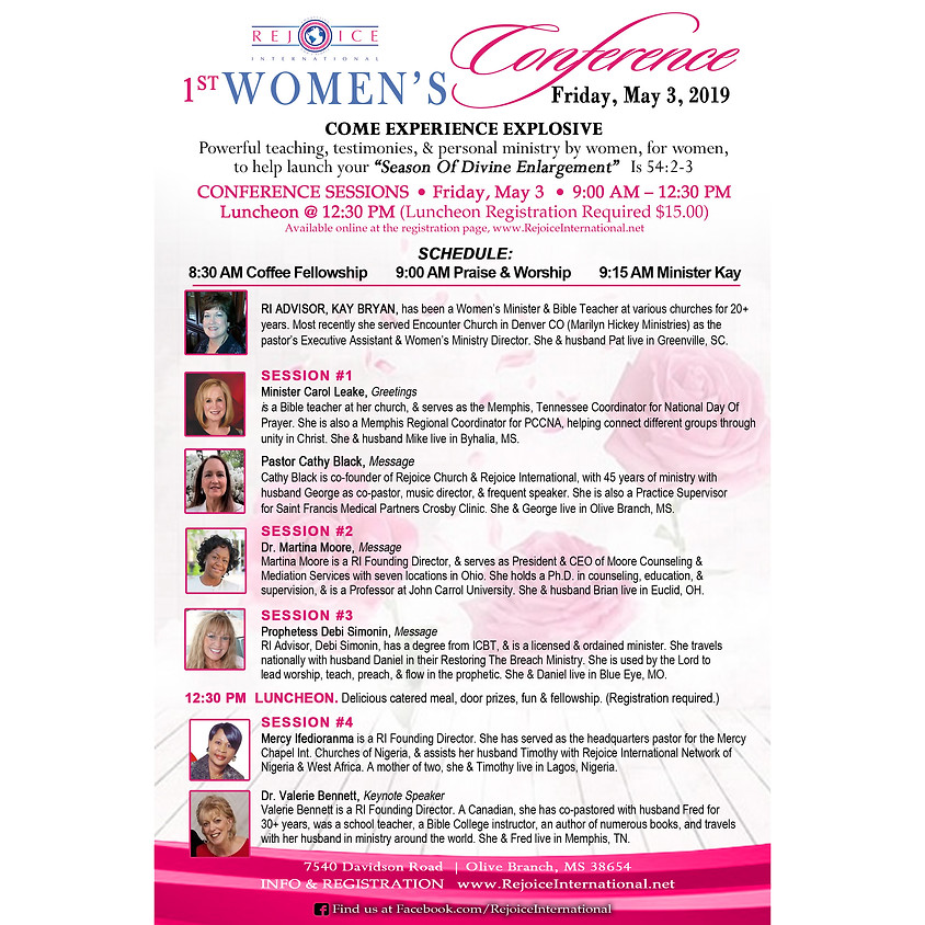 Fri May 3, 9 AM - 2 PM - RI Women's Conference & Luncheon