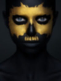 Halloween and creative make-up theme_ be