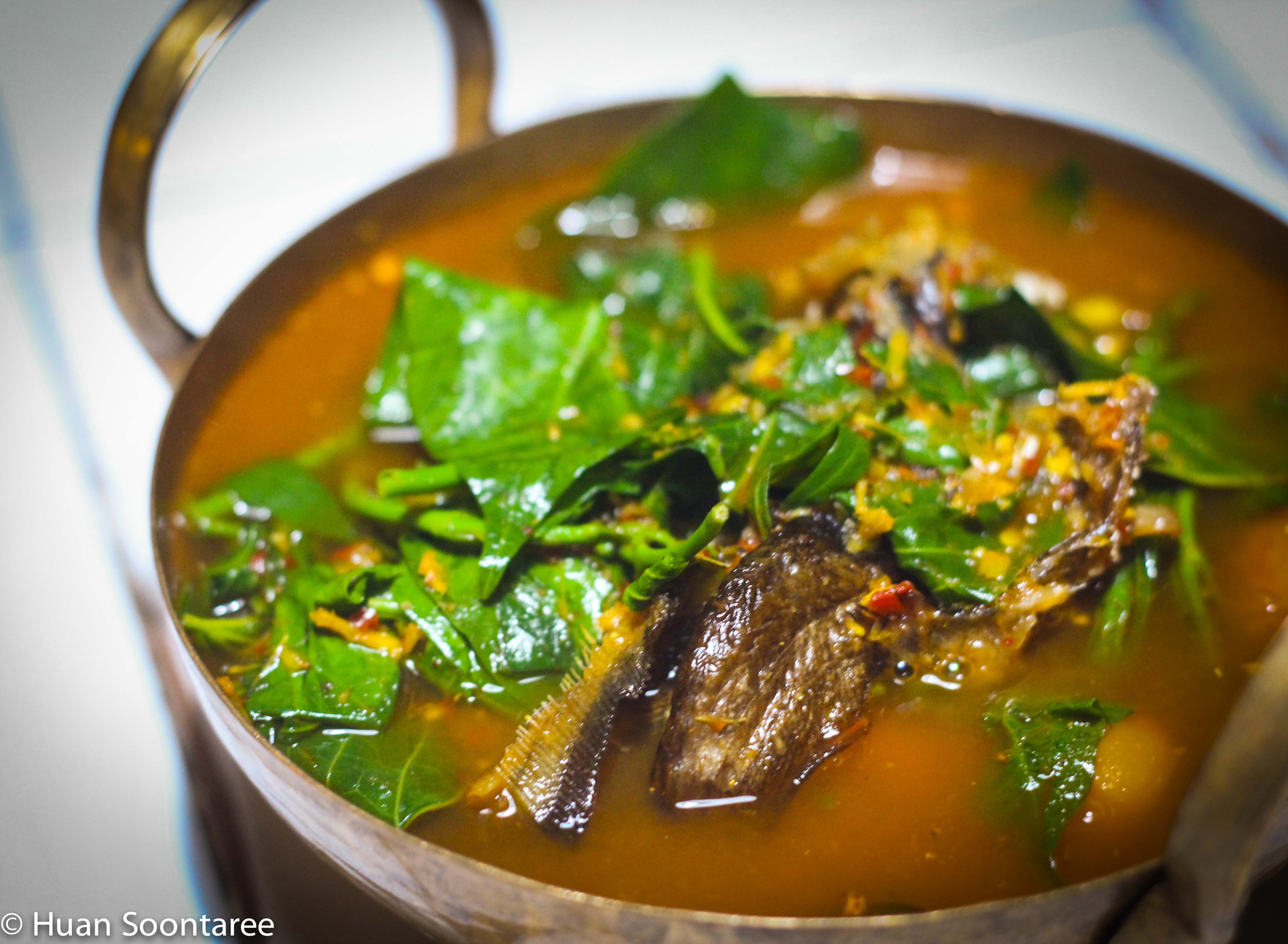 21 Local vegetable soup with dried fish 2