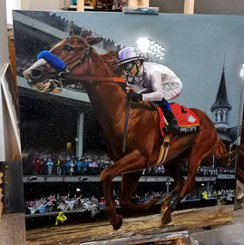 """Justify- Kentucky Derby""- SOLD"