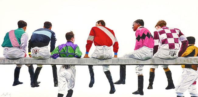 """""""Brotherhood""""24x48 oil on canvas"""