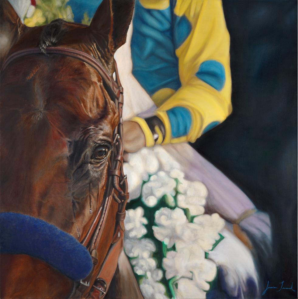 """American Pharoah"" 36x36 oil on canvas"