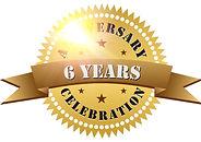 6-years-anniversary-celebration-gold-log