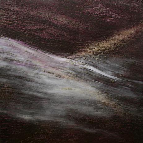 PANEL I (El silencio), Acrílico – tabla 180 x 180 cm.