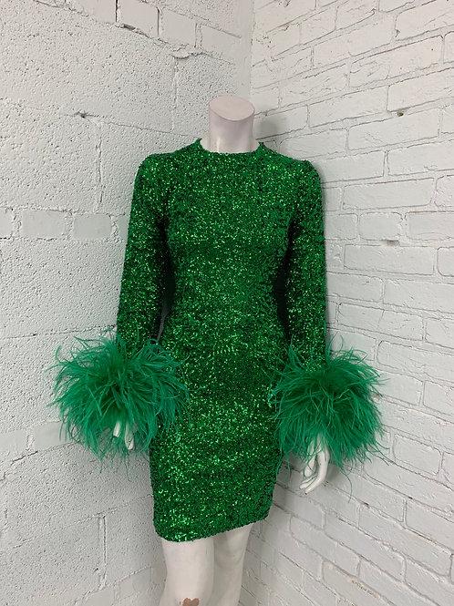 Oscar Sequin Dress