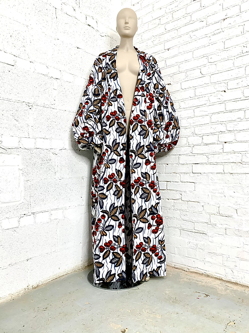 Unisex Navy Cherry Regal Robe