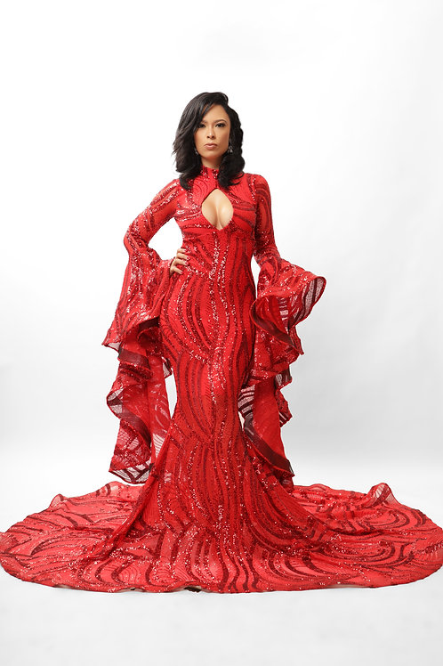 Red See Gown
