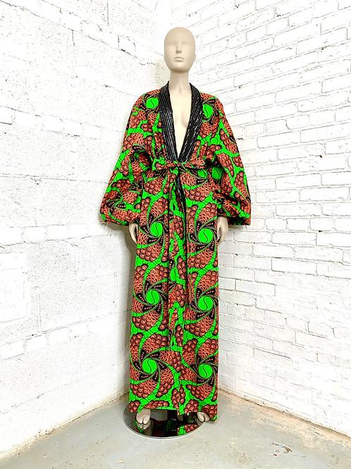 Unisex Orange/Green Regal Robe