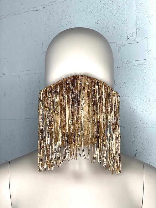 Gold fringey Mask