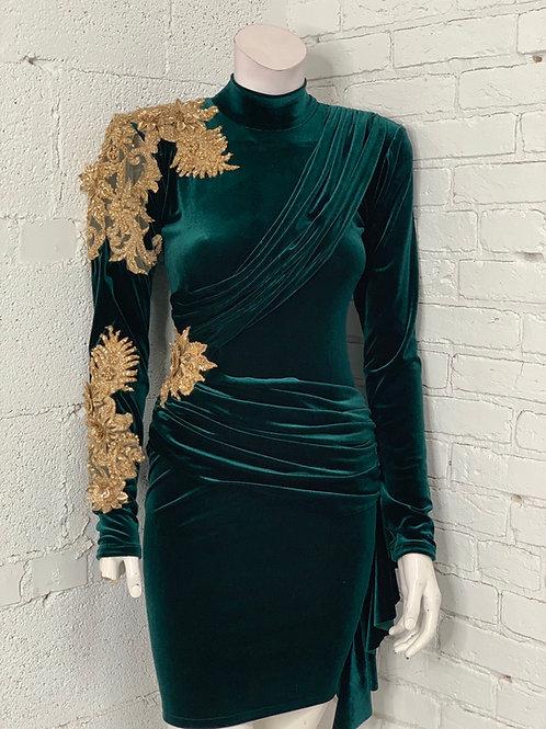 Verte Velvet Dress