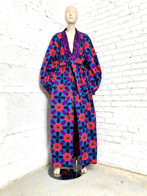 Unisex Purple Pink and Blue Regal Robe