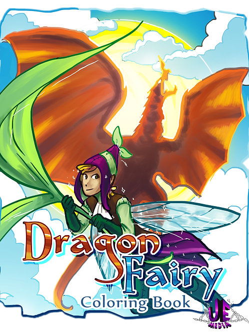 Dragon / Fairy Coloring Book