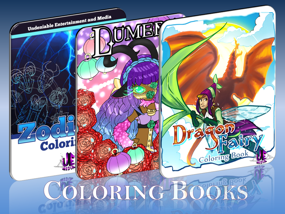 U.E.M. Coloring Books!  Pick yours up at Con or Online!