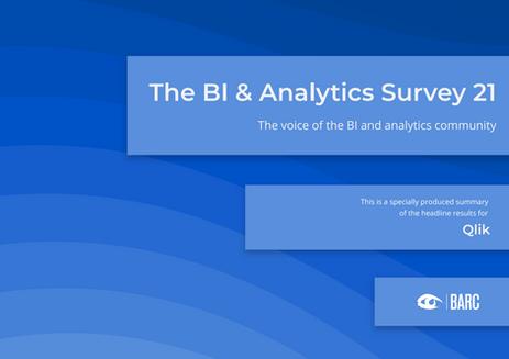Qlik på topp i BARC's BI & Analytics Survey 21