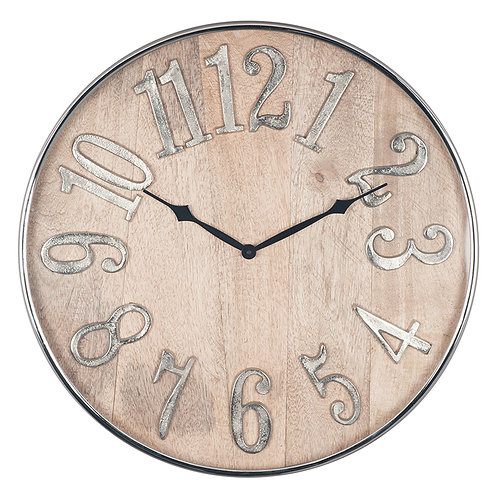 Mango and Raw Aluminium Clock