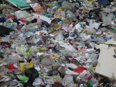 Déchets non recyclés qui seront enfouis