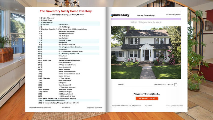 Pinventory Personalized digital catalog for a home inventory