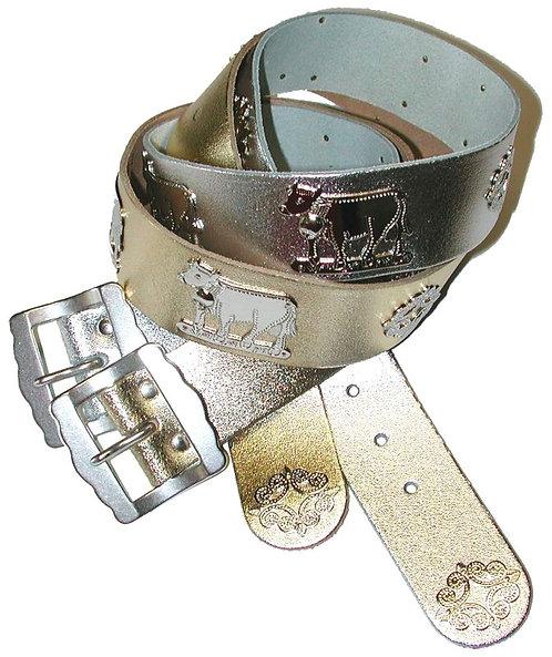 Appenzellergurt 4 cm breit im Metallic - Look