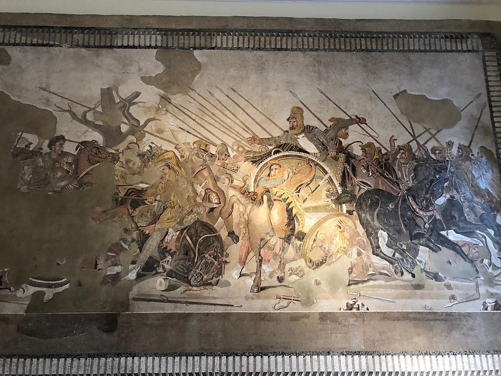alexander the great, floor mosaic