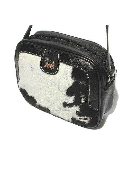 Gürteltasche  Kuhfell /Leder mit Appenzeller Kuh-Ornament