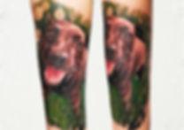 dog portrait tattoo london