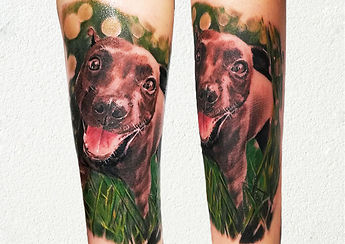 dog portrait tattoo london