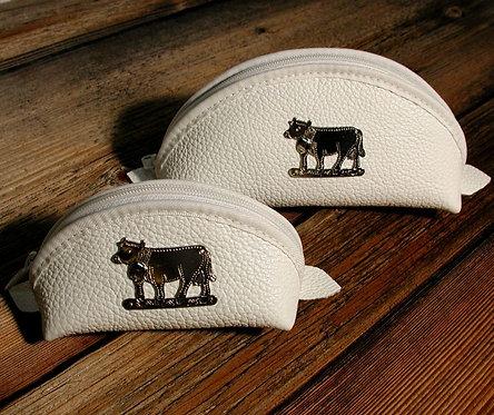 Börse gross mit Kuh-Ornament