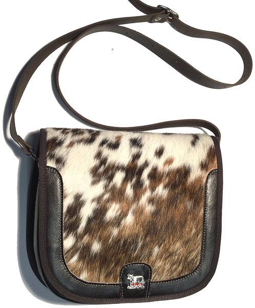 Tasche  Kuhfell /Leder mit Appenzeller Kuh-Ornament