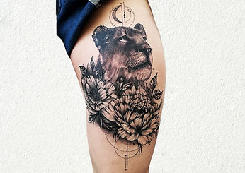 lion tattoo for girls london