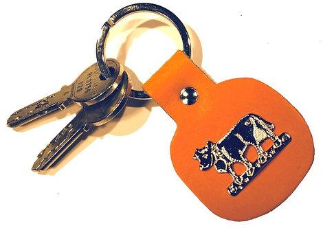 Schlüsselanhänger mit Kuh-Ornament