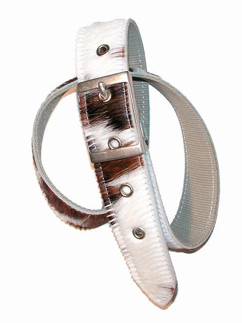 Kuhfell Gürtel, 4 cm breit, mit filigraner Schnalle