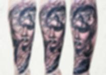 clock woman tattoo london