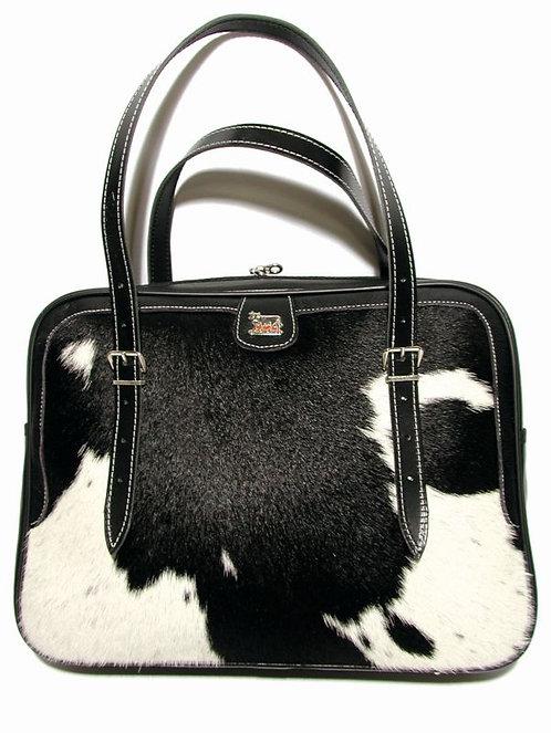Business Tasche  Kuhfell /Leder mit Appenzeller Kuh-Ornament