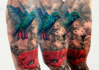 hummingbird color tattoo london.jpg