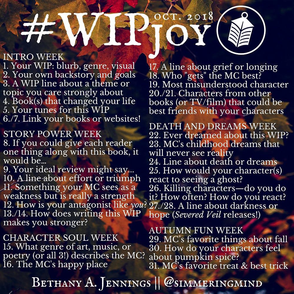 #WIPjoy, writing