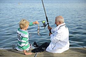 Bonden mit Fisch