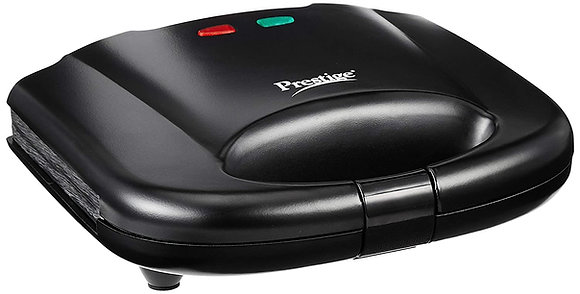 Prestige Grill Sandwich Toaster with Fixed Grill Plates, Black