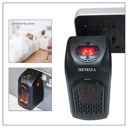 Small Electric Handy Compact Plug-in Room Heater, 400 W, Black