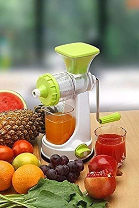 Manual Fruits & Vegetables Plastic Juicer, with Easy to Turn Handle